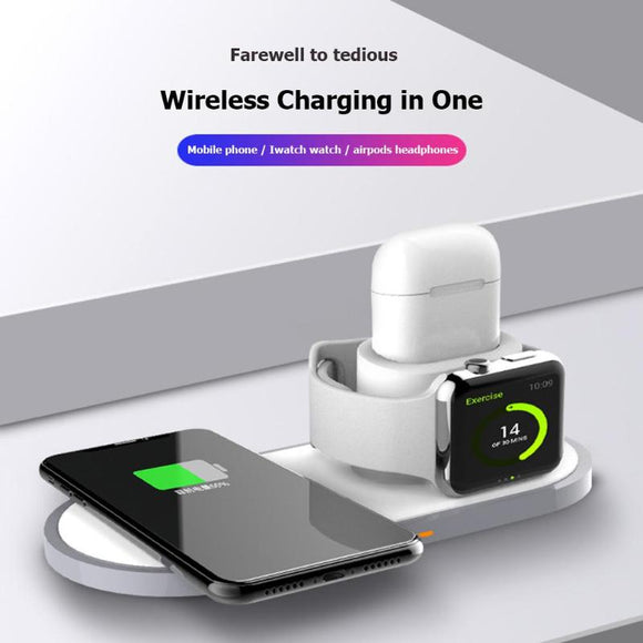 Phone Charging Dock Station 3 in 1 Qi Wireless Charger Dock Holder Station For iPhone Airpods Apple Watch Stand