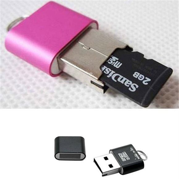 Portable Mini USB 2.0 Micro SD TF T-Flash Memory Card Reader Adapter Flash Drive SD Flash Memory Wholesale
