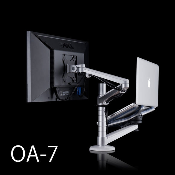 Rotatable Lap Desks, LCD Monitor Holder+ Laptop Holder Stand OA-7 for 10-15 inch Notebook and within 25 inch LCD Display