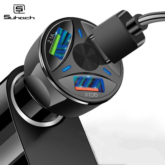 3A Quick Charge 4.0 3.0 USB Car Charger