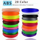 WEIYU 3 D 10 Or 200 Metre/Color 1.75 mm ABS/PLA Material 3D PLA Filament For 3D Pen Filament ABS Plastic 3D Pens Supplies Color
