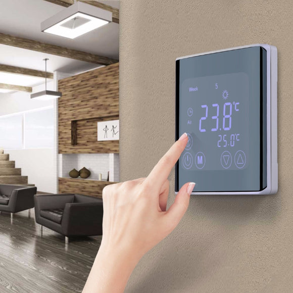 Weekly Programmable Underfloor LCD Touch Screen Heating Thermostat