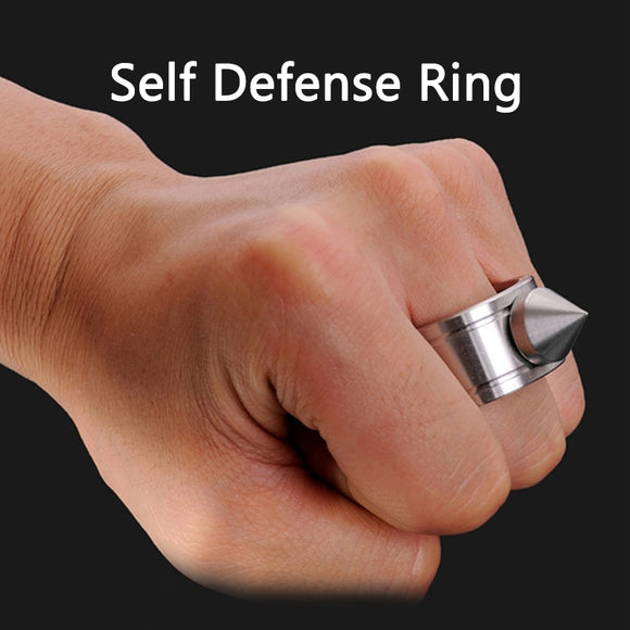 Outdoor Stainless Steel Self defense Ring