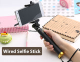 Wired Selfie Stick Monopod Extendable