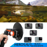 JINSERTA Waterproof Dome Port Housing Case Set for GoPro Shooting Accessory