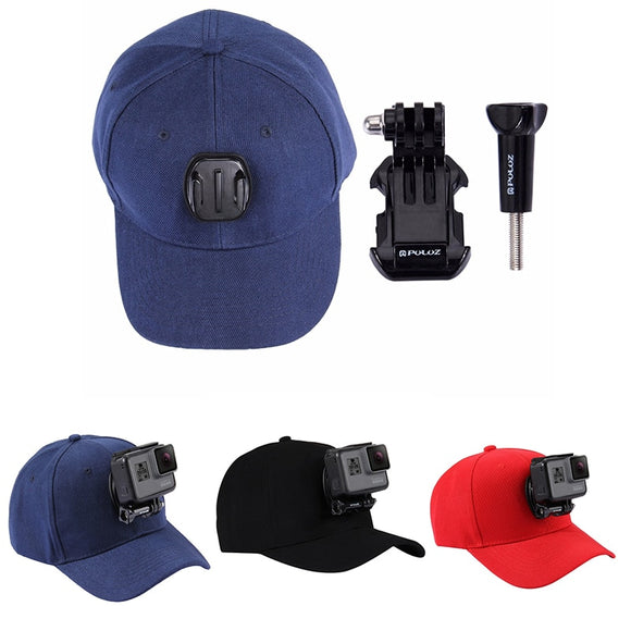 Adjustable Canvas Sun Baseball Hat with Gopro attachment