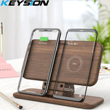 5 Coils Dual QI Fast Wireless Charger Stand/Pad convertible station