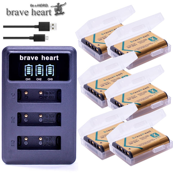6x Battery Packs + 3 slot USB Charger
