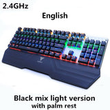 Wireless gaming LED backlit rechargeable keyboard