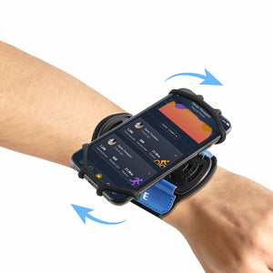 Sports Armband Case Rotatable Wrist Running With Key Holder for 4-6 inch Phone