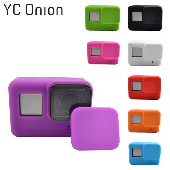 GoPro Camera Case Protective Silicone Skin +Lens Cap Cover