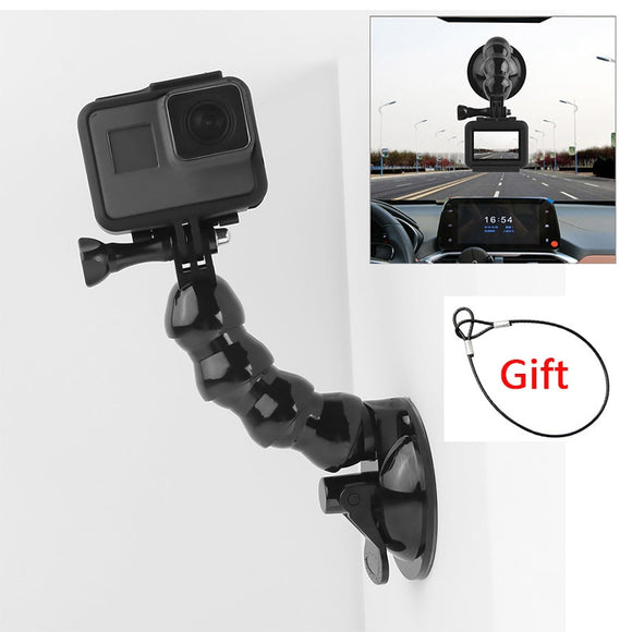 Suction Cup Car Mount for GoPro Cameras with Safety Tether
