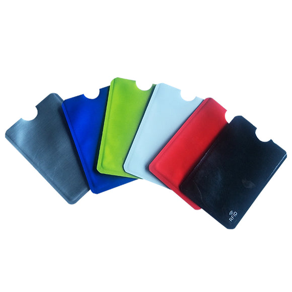 6PCS/LOT Blocking Wallet Anti RFID Scan Aluminum Case Security Pouch