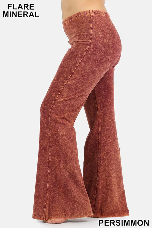 Mineral Flare Pant Plus Size- Rust