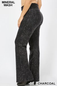 Mineral Flare Pant Plus Size-Charcoal