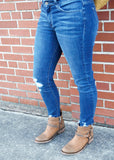 Addison Distressed Skinny Jean