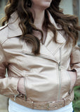 Libby Story Rosey Metallic Leather Jacket