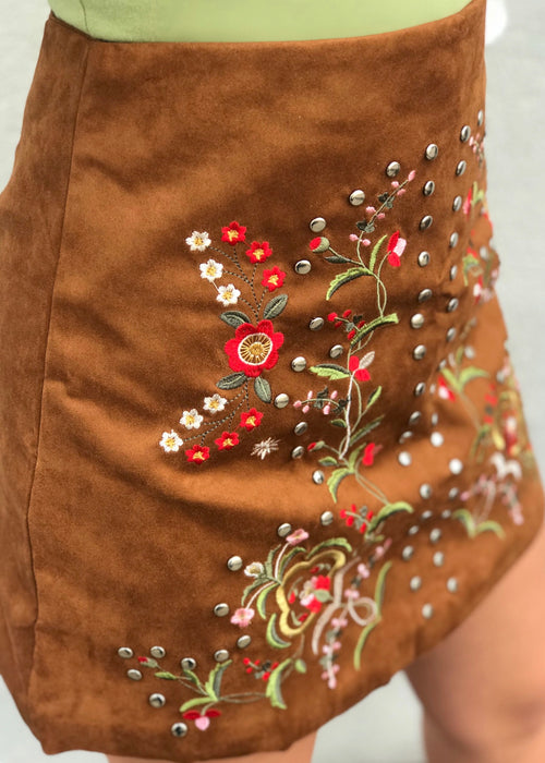 Libby Story Tokyo Embroidered Skirt