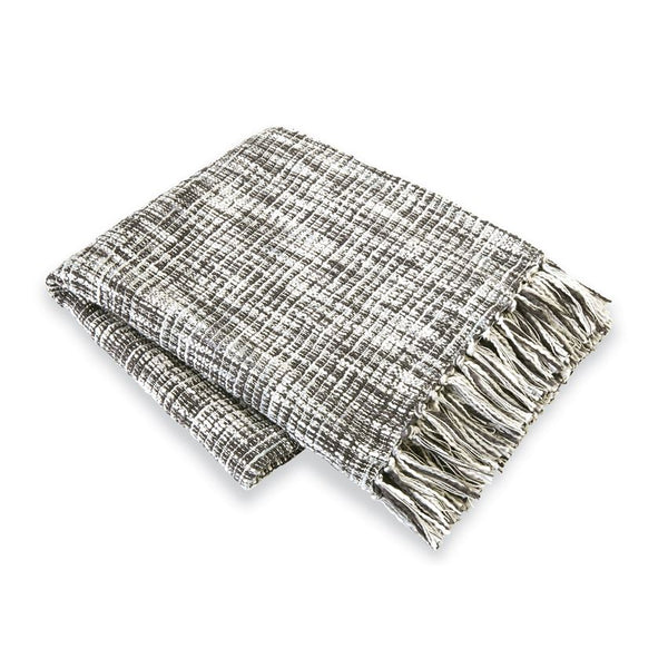 Multi-Color Cotton Weave Blanket- Gray