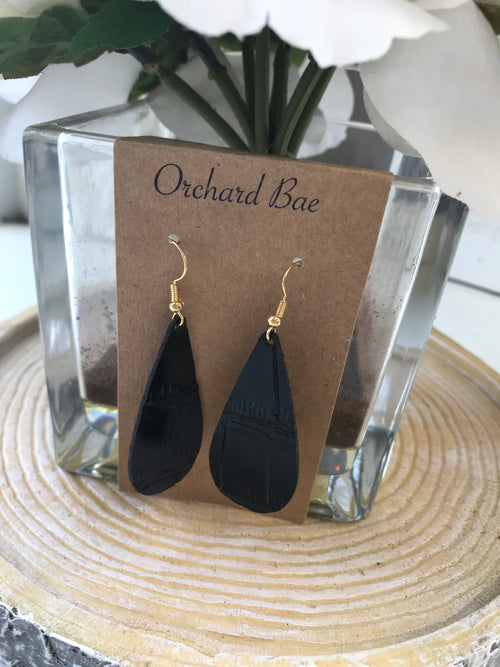 Orchard Bae MICHELE leather earring