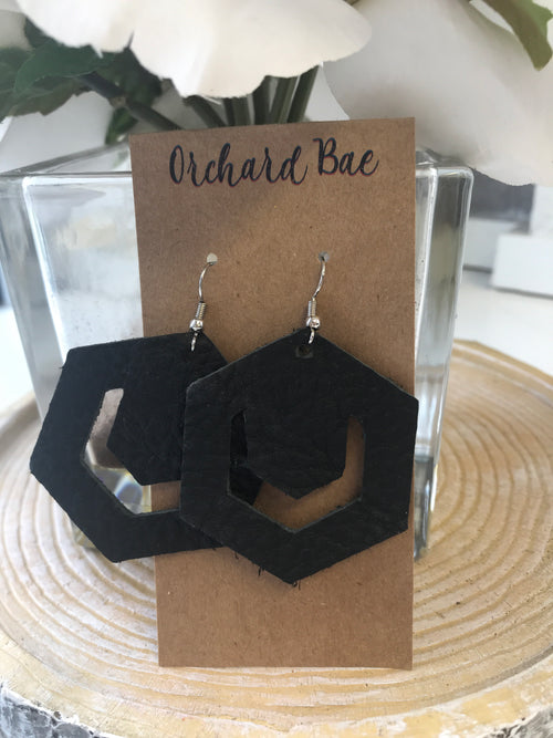 Orchard Bae Brin leather earring