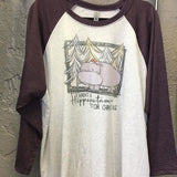 Hippopotamus for Christmas Raglan
