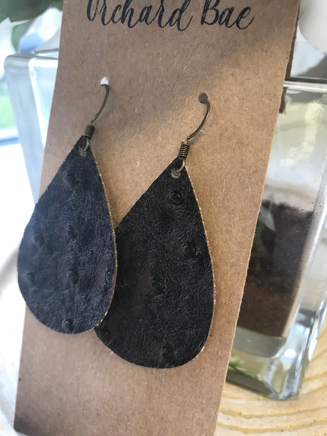 Orchard Bae Jessie leather earring