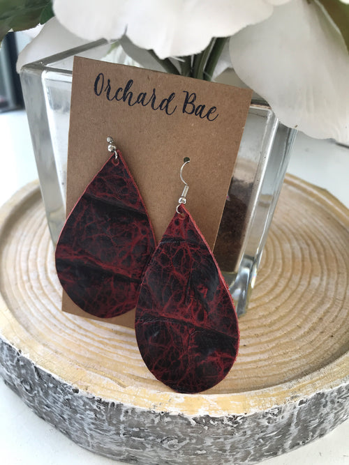 Orchard Bae MITZI leather Earring