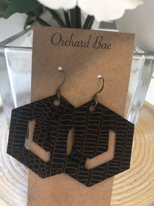 Orchard Bae Hannah leather earring