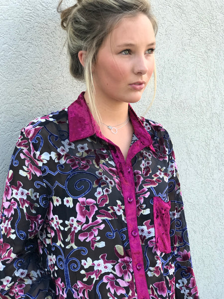 Libby Story Tuscany button front tunic