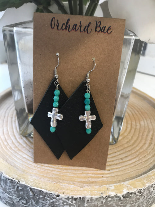 Orchard Bae Kay leather earring