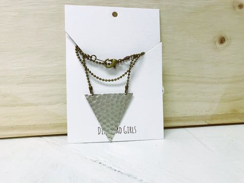 Textured Triangle Statement Necklace