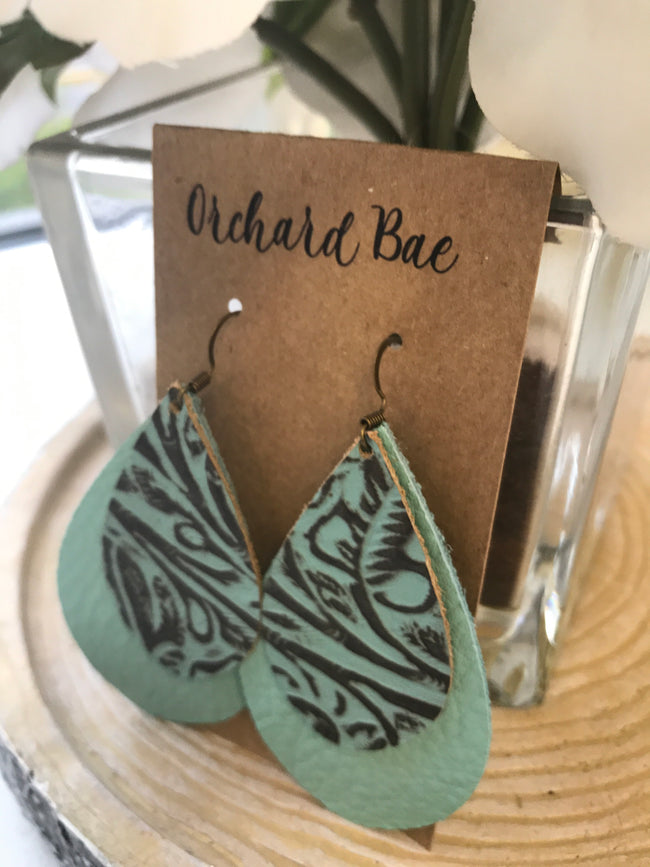 Orchard Bae Corlie leather earrings