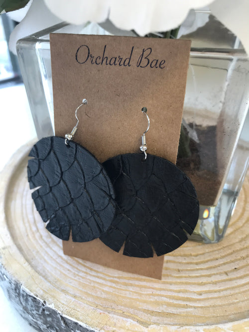 Orchard Bae Autumn leather earring