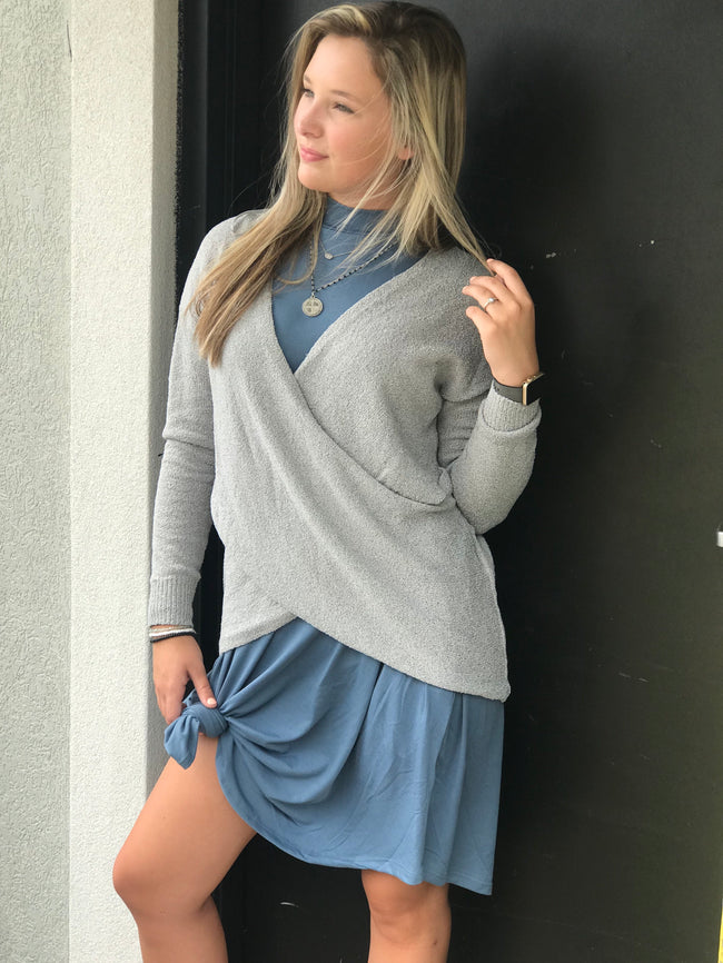 Laid Back Life Dress-Titanium