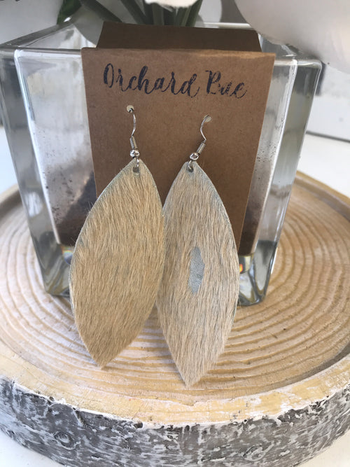 Orchard Bae Lorrie leather earring