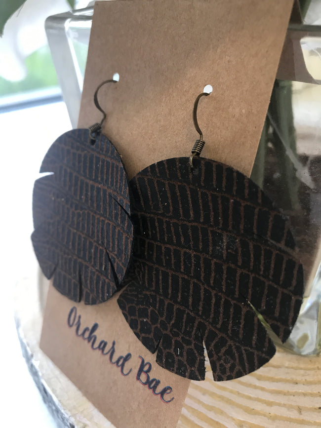 Orchard Bae Paden leather earring
