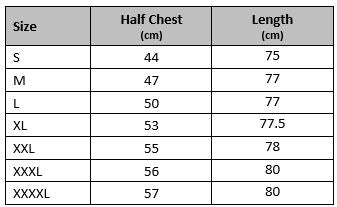 mens gym singlet size chart