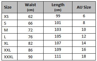 mens gym track pants size chart