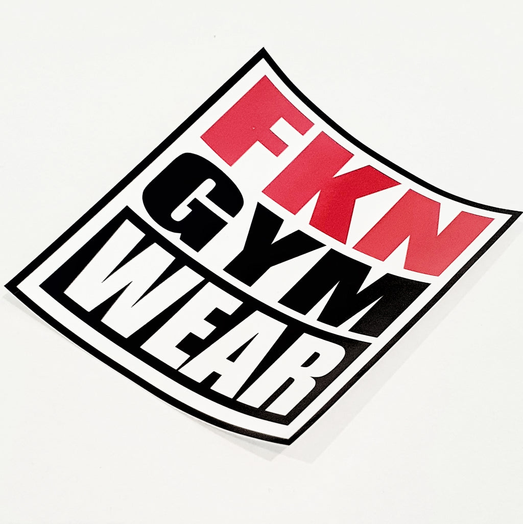 FKN Gym Wear Vinyl Sticker, Sticker, FKN Gym Wear