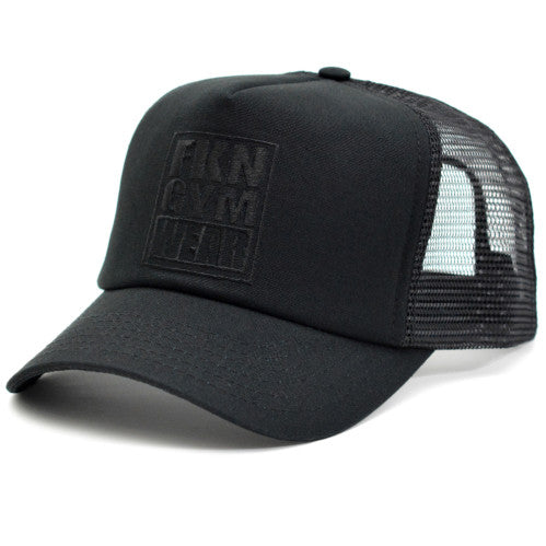 Training Cap & Gym Bag Pack- Black, FKN Gym Wear, Black Hat