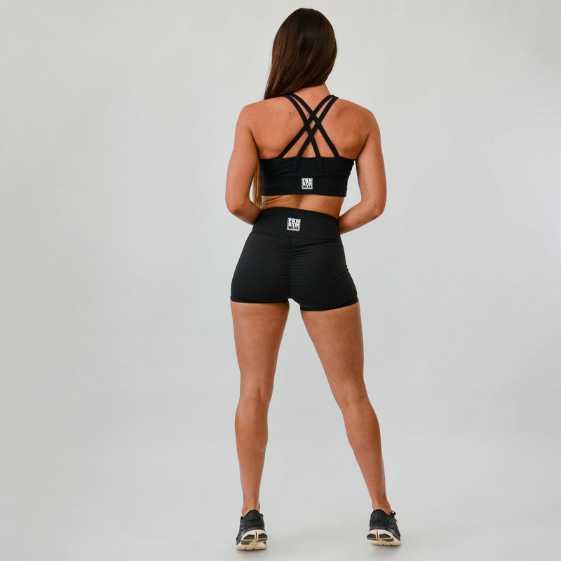 Workout Set | Crop Top & Scrunch Bum Shorts
