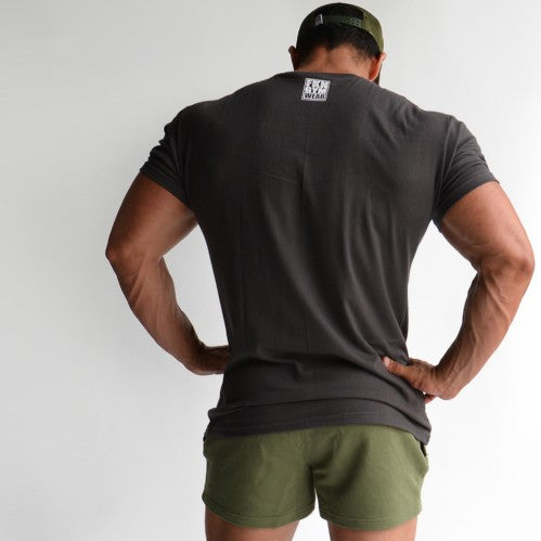 Men's Gym T-shirt - FKNLIFT Charcoal, FKN Gym Wear, Back
