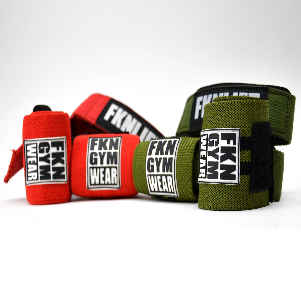 Wraps & Straps Mega Pack, FKN Gym Wear, Red & Khaki