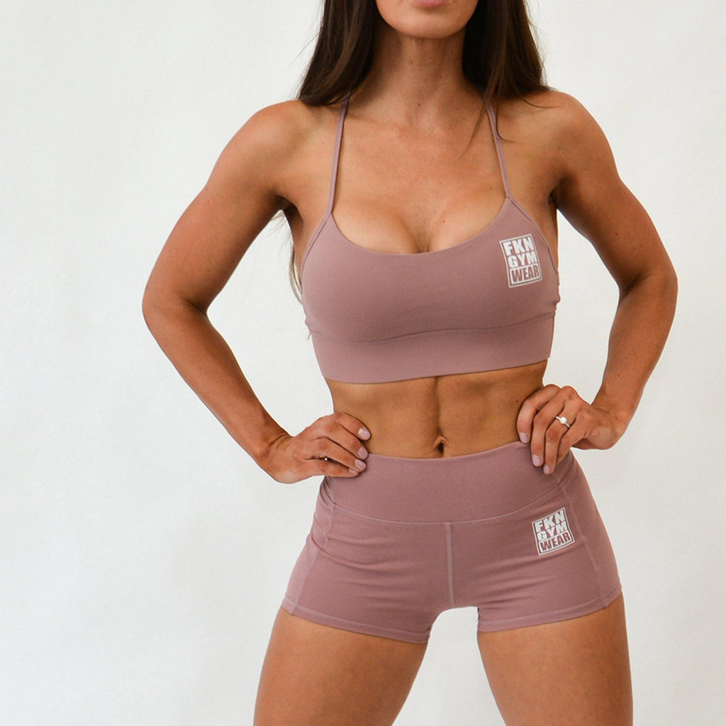 High Waist Gym Shorts | LILAC - FKN Gym Wear