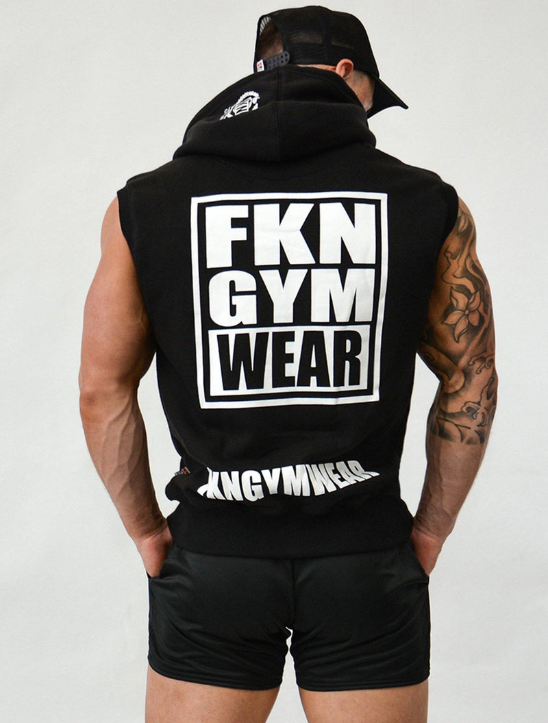 Flex | Men's Sleeveless Hoodie - FKN Gym Wear