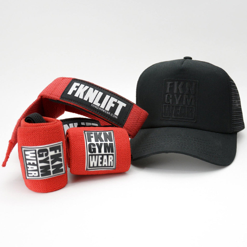 Gym Pack | Straps, Wraps & Cap - FKN Gym Wear