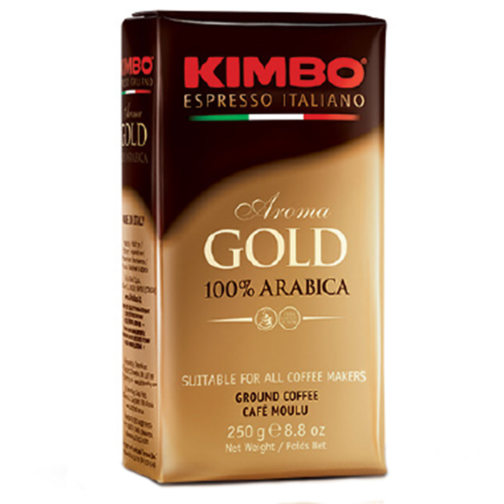 Kimbo Aroma Espresso Gold 100% Arabica Ground Coffee