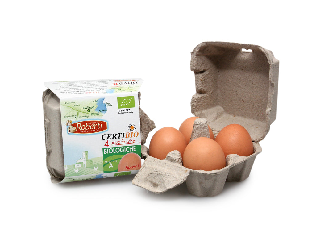 4 Uova Fresche Biologiche - Fresh Organic Eggs