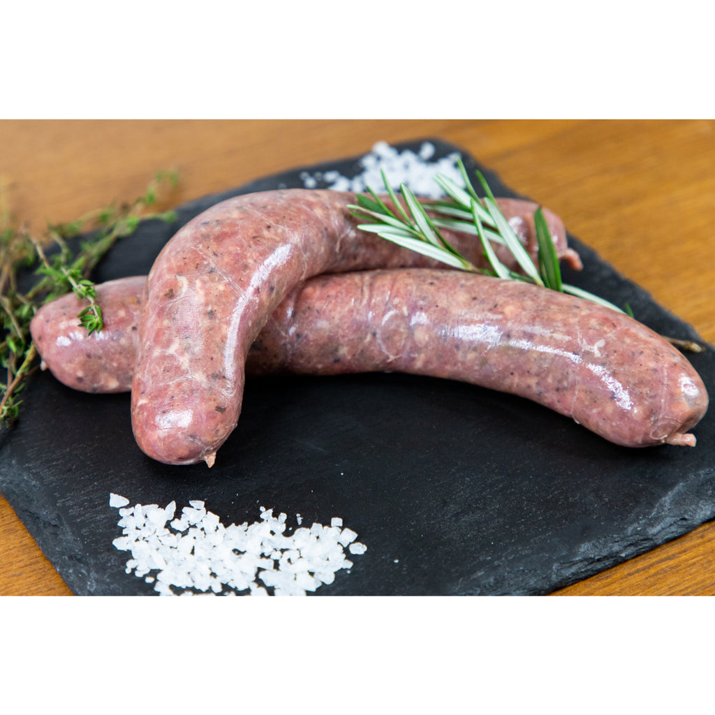 Homemade Lamb, Rosemary, Mint & Honey Sausages